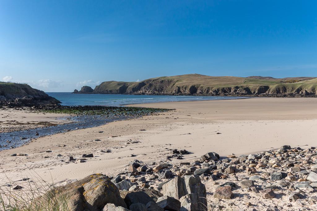 Strand an der schottischen Küste