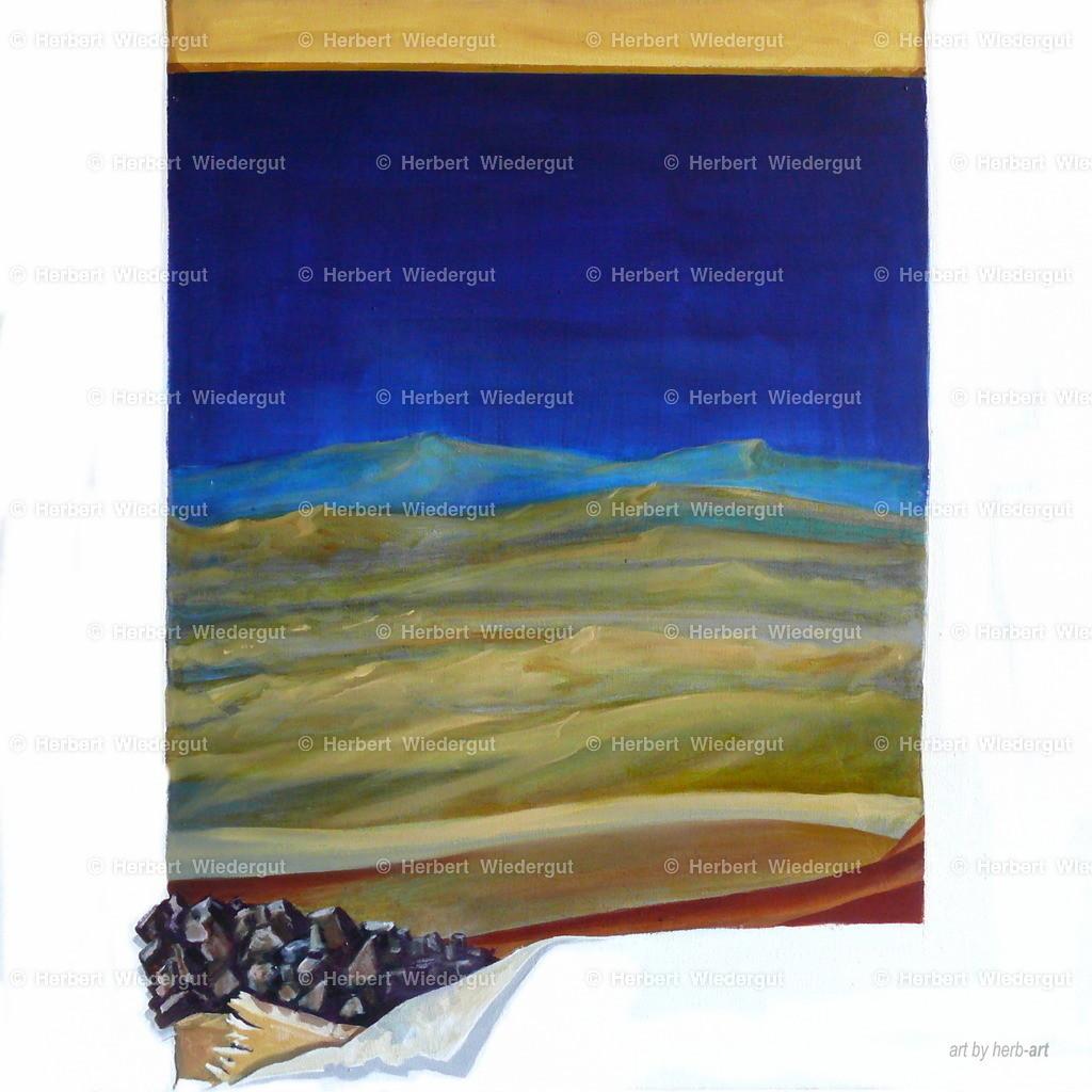 Durchbruch der Landschaft | Ölgemälde von herb-art, Dr. Herbert Wiedergut