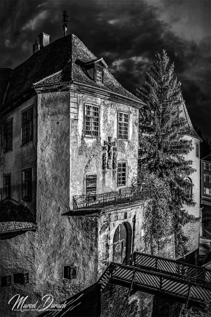 die Meersburg  | Die Meersburg am Bodensee bei Nacht