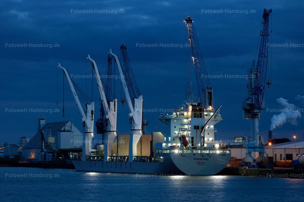11908607 - Nacht im Südwesthafen | Containerschiff Paderewski im Südwesthafen