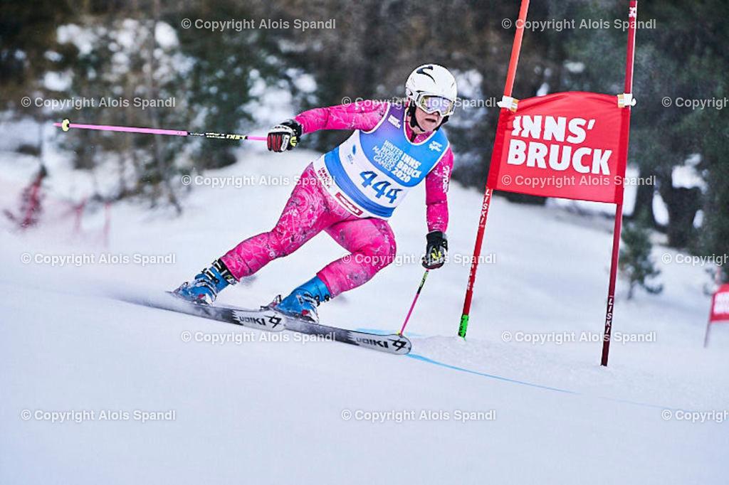 ALS5896_WWMG_GS-II_C | (C) FotoLois.com, Alois Spandl, WinterWorldMastersGames 2020 Innsbruck, Giant Slalom-II Gruppe C Damen, Patscherkofel Olympiaabfahrt, Mi 15. Jänner 2020.