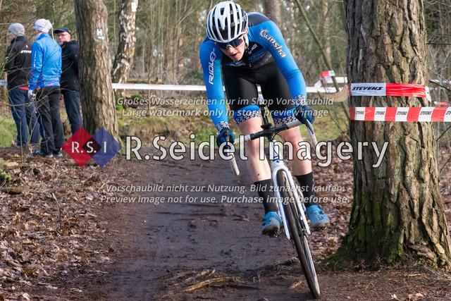 Radsport, Stevens Cyclocross Cup 2019, 10. Lauf (RSG Nordheide), Rennen 9 (Elite Herren + U23, Masters 2 / Elite Ü40 und Junioren U19), Buchholz i.d.N., 19.01.2020 | Ben Laatsch (RSG Nordheide, #86, U19m)