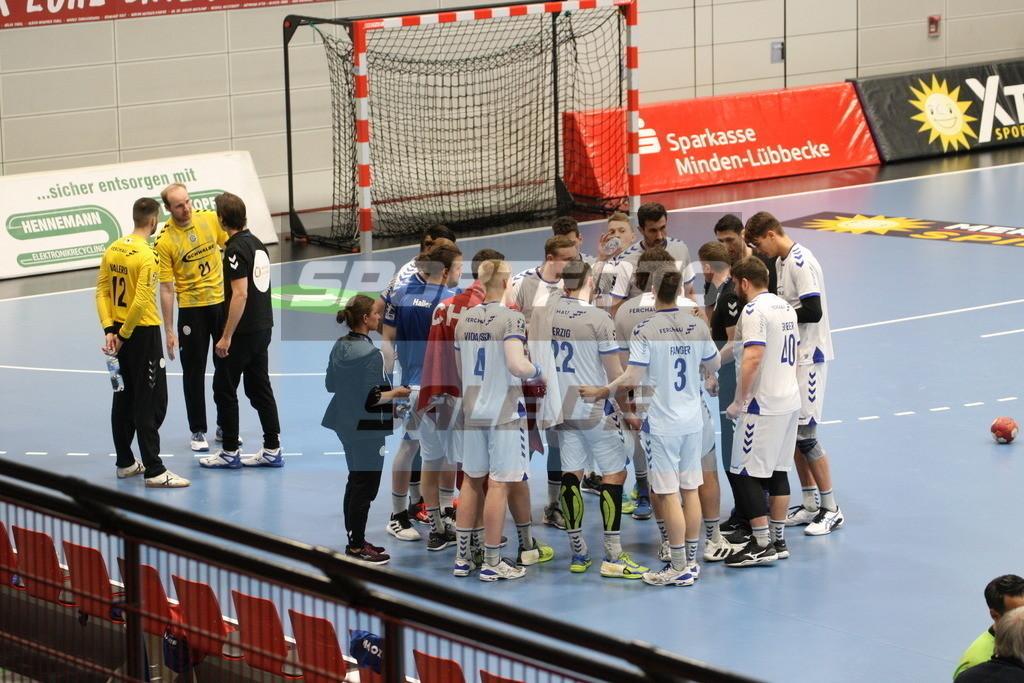 TUS N. Lübbecke - VFL Gummersbach   Auszeit VFL Gummersbach © by K-Media-Sports / Sportfoto-Sale.de