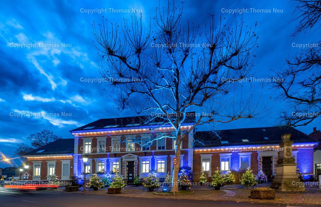 DSC_4104 | ble,Lorsch, blaues Weihnachtswunder, Innenstadt, ,, Bild: Thomas Neu