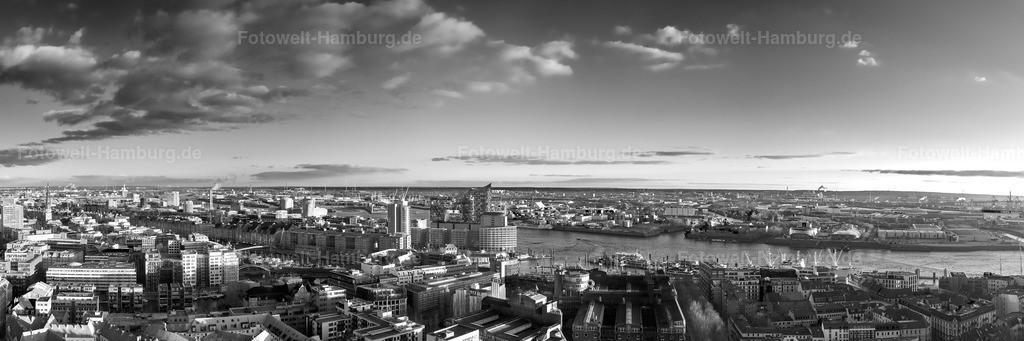 10200301 - Elbphilharmonie und Hamburger Hafen | Beeindruckender Panoramablick von der Speicherstadt über die Elbphilharmonie bis zu den Musicaltheatern im Hafen.