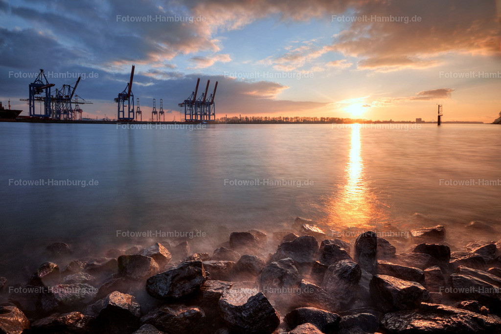 11708290 - Sonnenuntergang an der Elbe