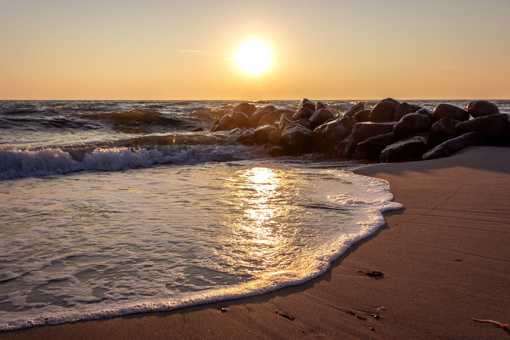 Sonnenaufgang an der Ostsee | Sonnenaufgang in Damp im Winter