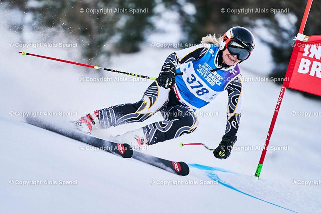 ALS5573_WWMG_GS-II_C | (C) FotoLois.com, Alois Spandl, WinterWorldMastersGames 2020 Innsbruck, Giant Slalom-II Gruppe C Damen, Patscherkofel Olympiaabfahrt, Mi 15. Jänner 2020.