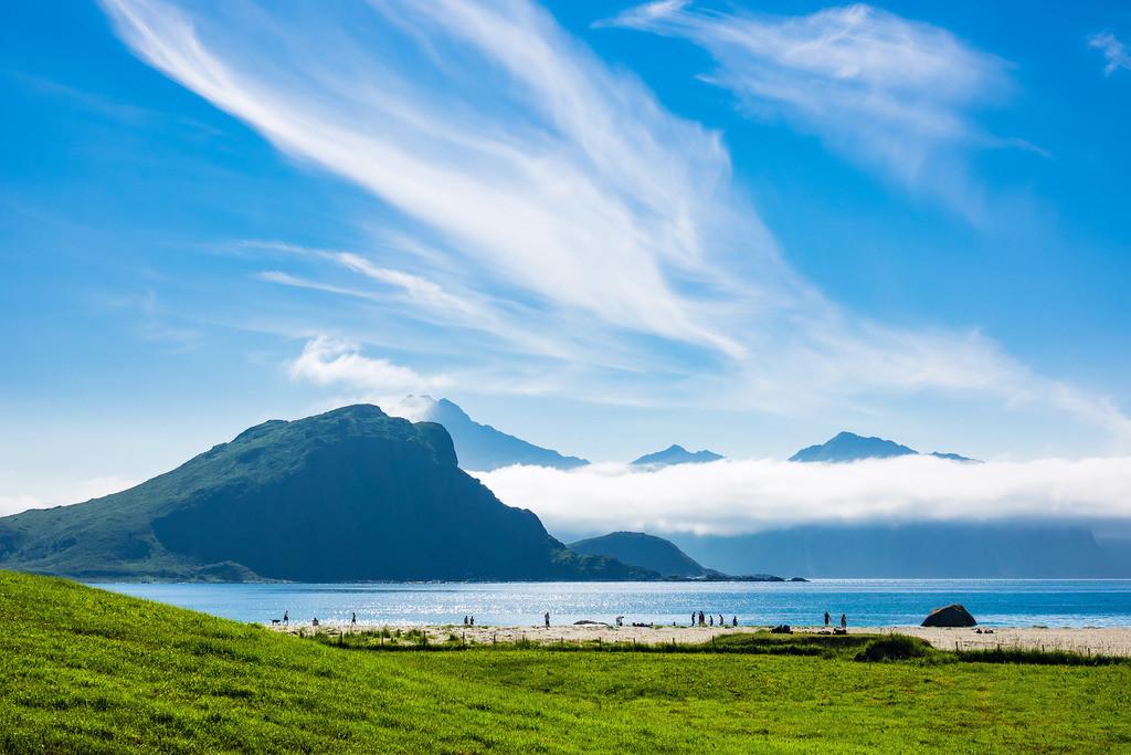 Haukland Beach auf den Lofoten in Norwegen | Haukland Beach auf den Lofoten in Norwegen.