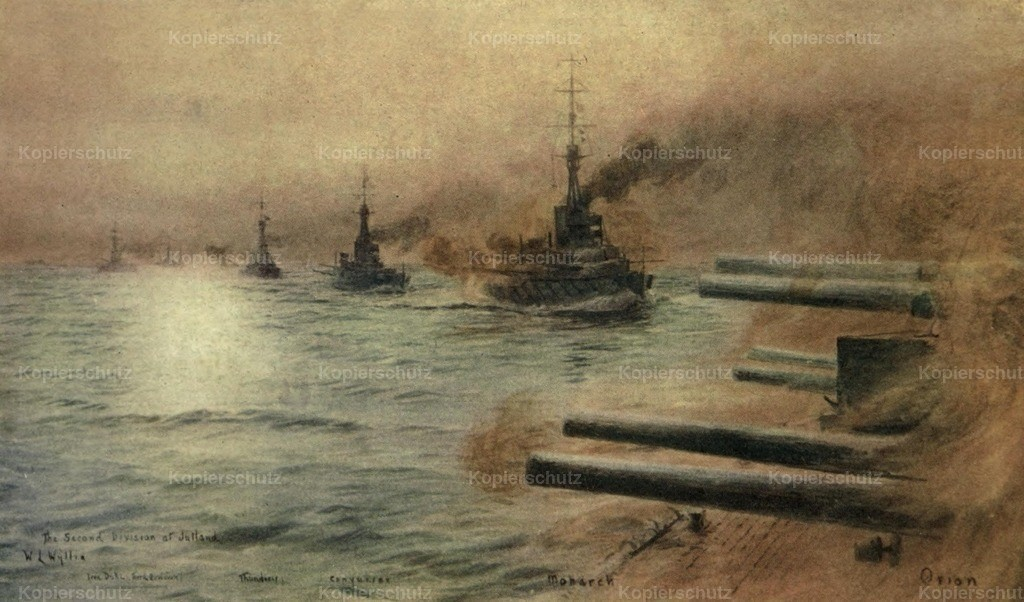 Wyllie_ William (1851-1931) - More Sea-fights of the Great War 1919 - Second division at Jutland