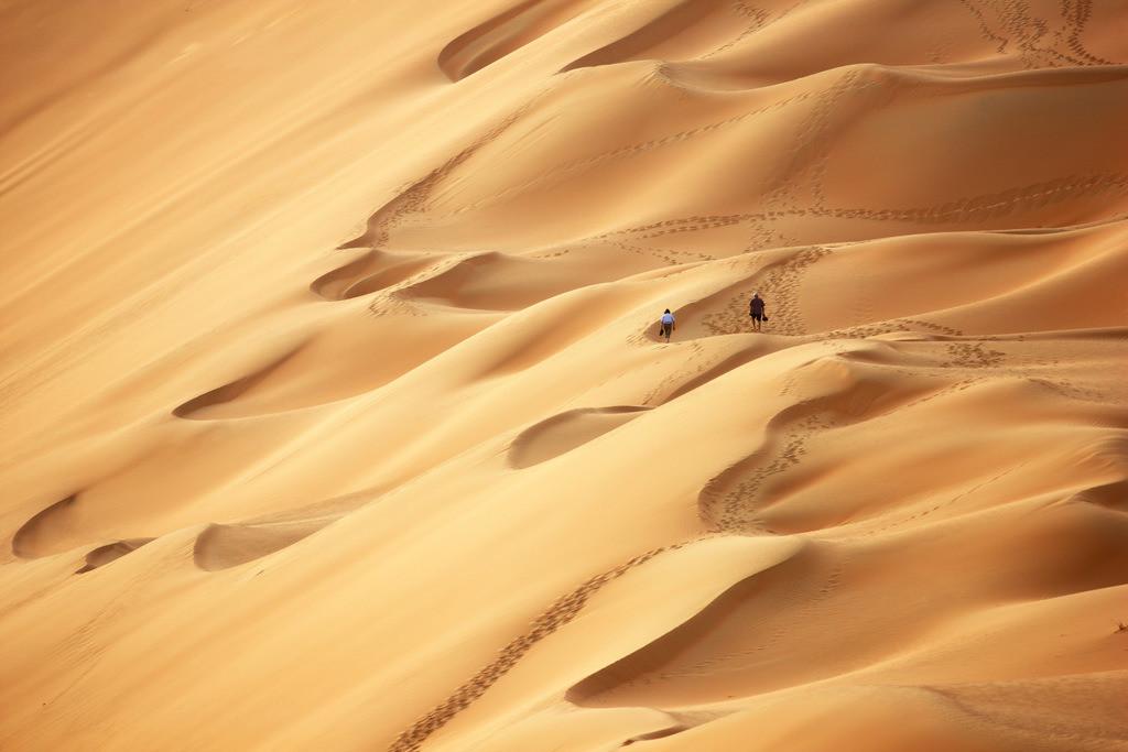JT-110228-4311 | Roter Sand, Sandduenen, in der Empty Quarter genannten Wueste Rub'al-Khali, Emirate.