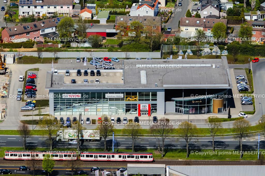 IMGL0864 | Luftbild Autohaus Toyota Weber 21.04.2015 in Dortmund (Nordrhein-Westfalen, Deutschland) an der B1.  Foto: Michael Printz / PHOTOZEPPELIN.COM