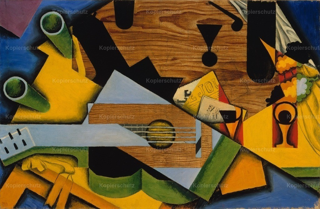 Gris_ Juan (1887-1927) - Still Life with a Guitar 1913