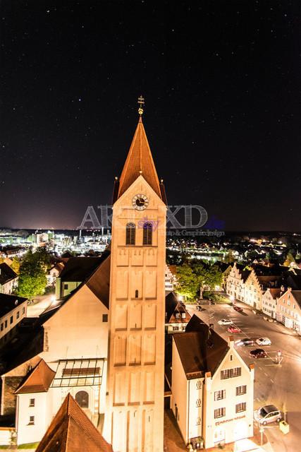 Moosburg bei Nacht 2