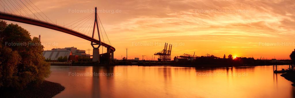 12032326 - Sonnenuntergang an der Köhlbrandbrücke (Version 2018)