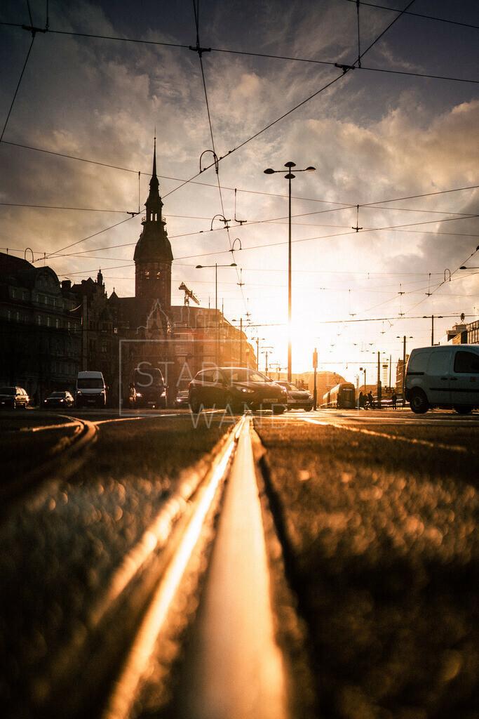 Leipzig Goerdelerring Sonnenaufgang 2020