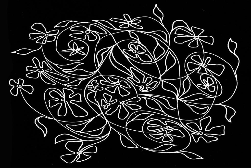 Blumen-Motiv-SW3 | Projektionsmotive der Kunstevents