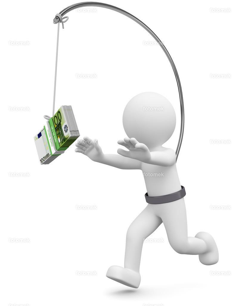 3d Männchen dem Geld hinterher rennen   3d Männchen läuft dem Geld hinterher. Geldeintreibung ist nicht immer einfach.