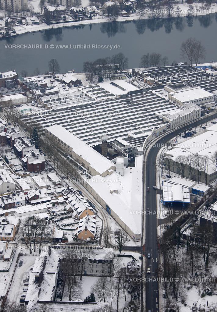 KT10011115 | Schnee,  Kettwig, Essen, Ruhrgebiet, Nordrhein-Westfalen, Deutschland, Europa, Foto: Luftbild Hans Blossey, Copyright: hans@blossey.eu, 06.01.2010, E 006° 56' 53.93