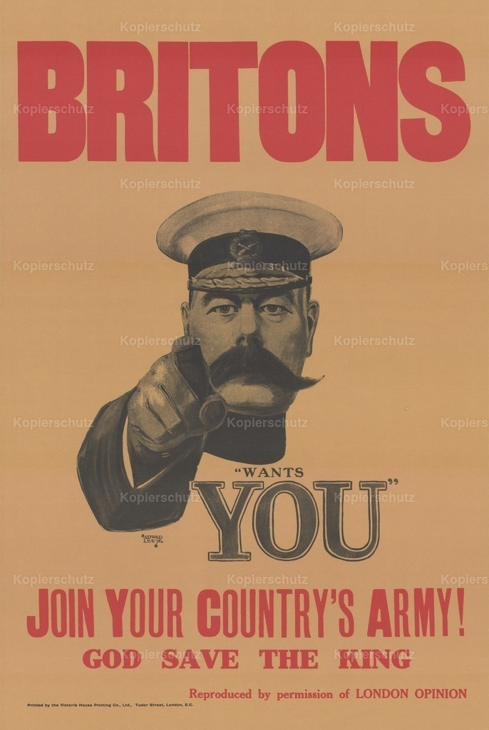 Leete_ Alfred (1882-1933) - WWI Poster 1916 - Kitchener Needs You