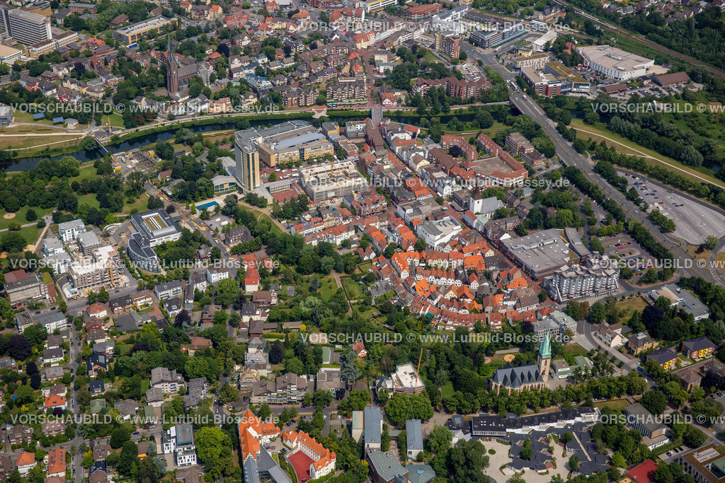 Luenen15072405 | Blick auf den Stadtkern von Lünen mit dem Umbau des Hertie-Hauses, Lünen, Ruhrgebiet, Nordrhein-Westfalen, Deutschland