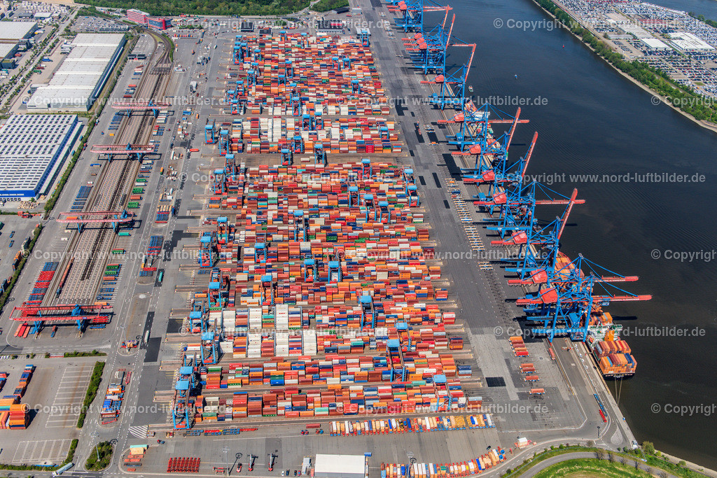 Hamburg Altenwerder_CTA_HHLA_ELS_3779110517 | Hamburg - Aufnahmedatum: 11.05.2017, Aufnahmehöhe: 515 m, Koordinaten: N53°29.597' - E9°56.053', Bildgröße: 6639 x  4431 Pixel - Copyright 2017 by Martin Elsen, Kontakt: Tel.: +49 157 74581206, E-Mail: info@schoenes-foto.de  Schlagwörter:Altenwerder,HHLA,CTA,Container Terminal,Container,Automatisiert,Luftbild, Luftbilder,