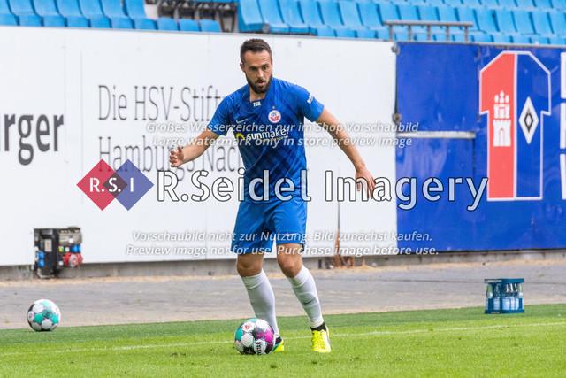 Fußball, Herren, Testspiel, Hamburger SV - FC Hansa Rostock, Volksparkstadion, 09.08.2020 | Pascal Breier (#39 Hansa Rostock)