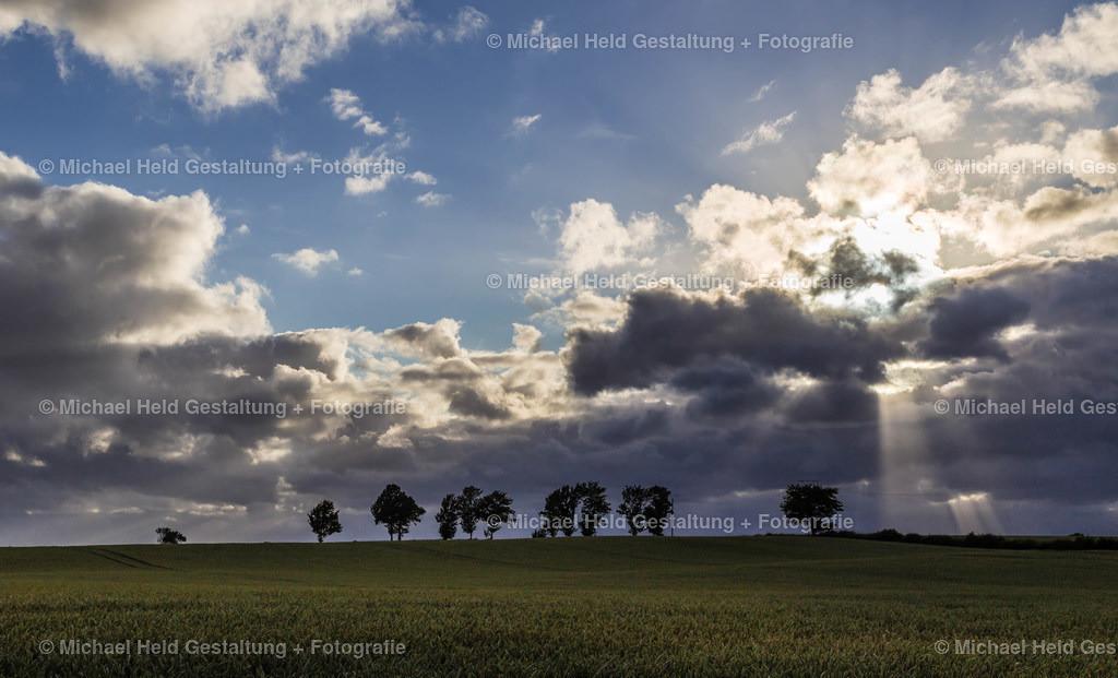 Wolken | Eine Wolkenformation zieht über ein Getreidefeld in Salzau