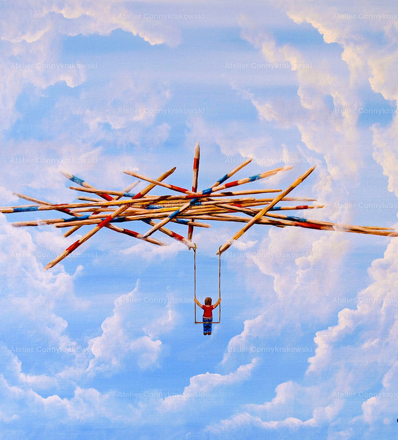 Der fliegende Wahnsinn Calvendo | Phantastischer Realismus aus dem Atelier Conny Krakowski. Verkäuflich als Poster, Leinwanddruck und vieles mehr.