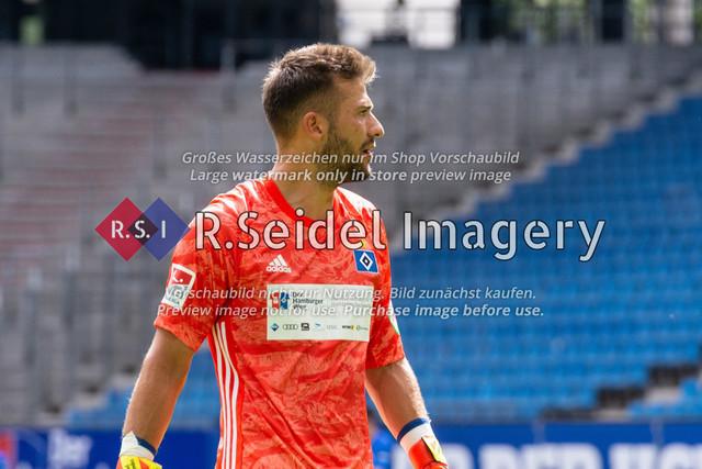 Fußball, Herren, Testspiel, Hamburger SV - FC Hansa Rostock, Volksparkstadion, 09.08.2020 | Daniel Heuer Fernandes (#1 HSV Torwart)