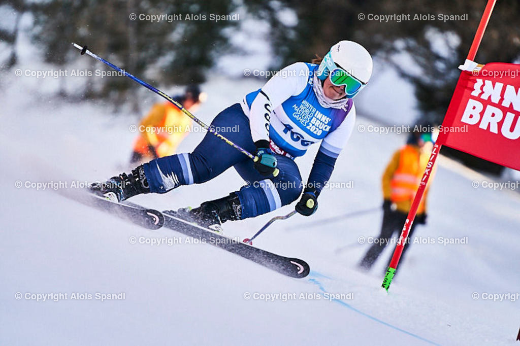 ALS6029_WWMG_GS-II_C   (C) FotoLois.com, Alois Spandl, WinterWorldMastersGames 2020 Innsbruck, Giant Slalom-II Gruppe C Damen, Patscherkofel Olympiaabfahrt, Mi 15. Jänner 2020.