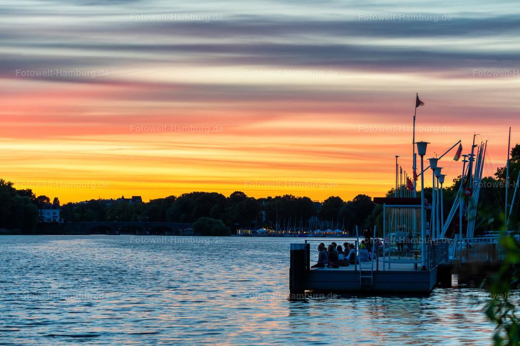 10200804 - Abendhimmel | Ein Himmel wie gemalt - wunderschöne Abendstimmung an der Aussenalster.
