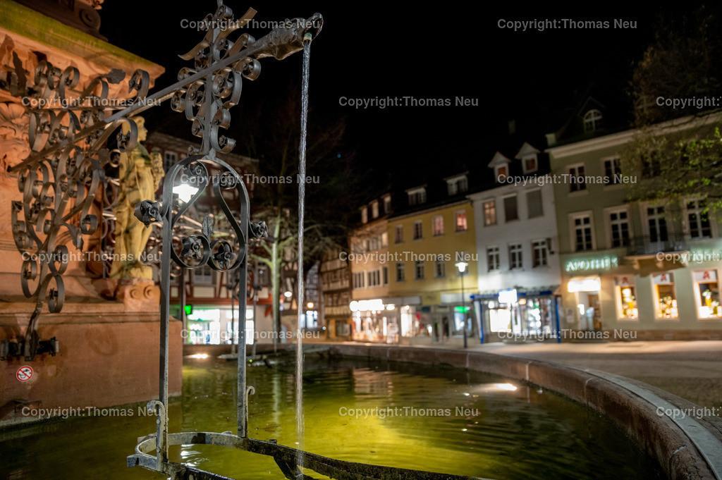 DSC_3399 | Bensheim, Marktplatz,Marktplatzbrunnen,  Nachtaufnahme, ,, Bild: Thomas Neu
