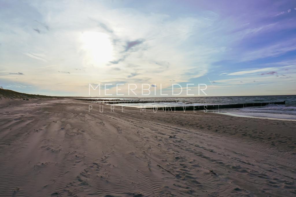 Strandbild Ostsee auf Alu Dibond