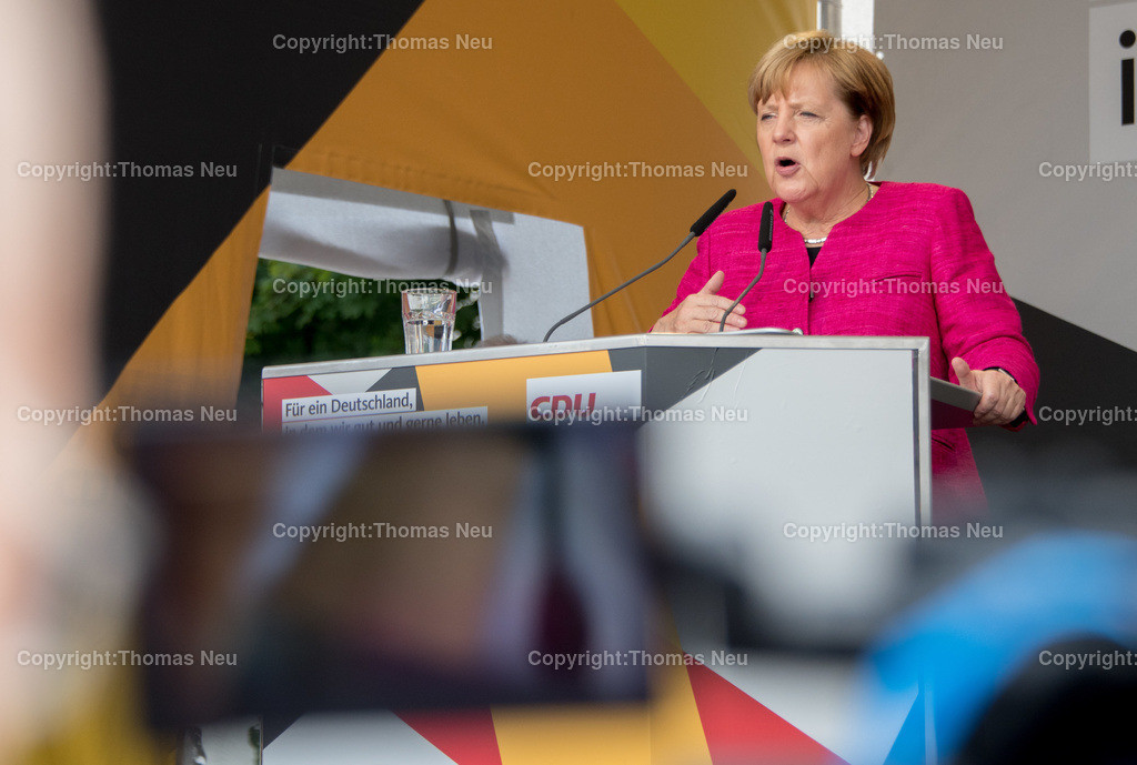 DSC_7856 | Heppenheim, Wahlveranstaltung, CDU, Angela Merkel auf dem parkhof, , ,, Bild: Thomas Neu