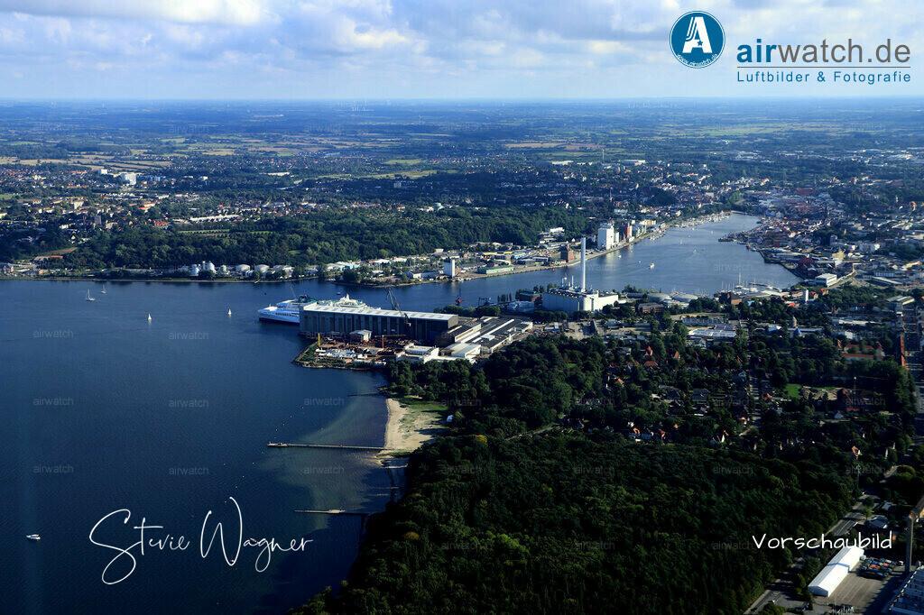 Luftbild Flensburger Foerde, Flensburg Wassersleben, Binnenhafen   Flensburger Foerde, Flensburg Wassersleben, Binnenhafen • max. 6240 x 4160 pix