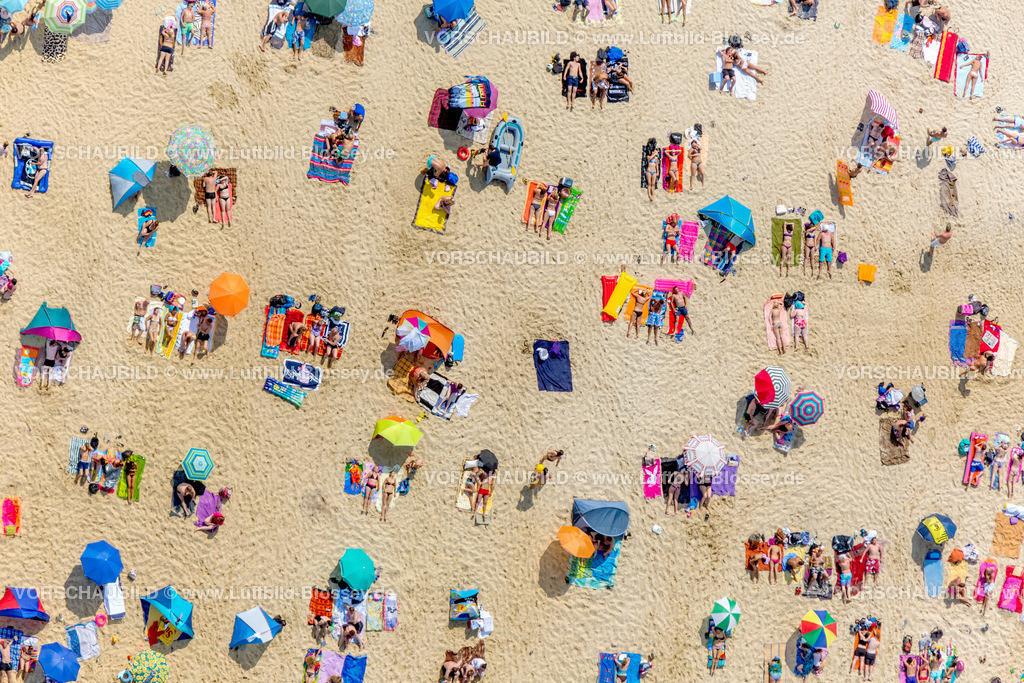 Haltern13081772 | Silbersee II aus der Luft, Sandstrand und türkisfarbenes Wasser, Luftbild von Haltern am See