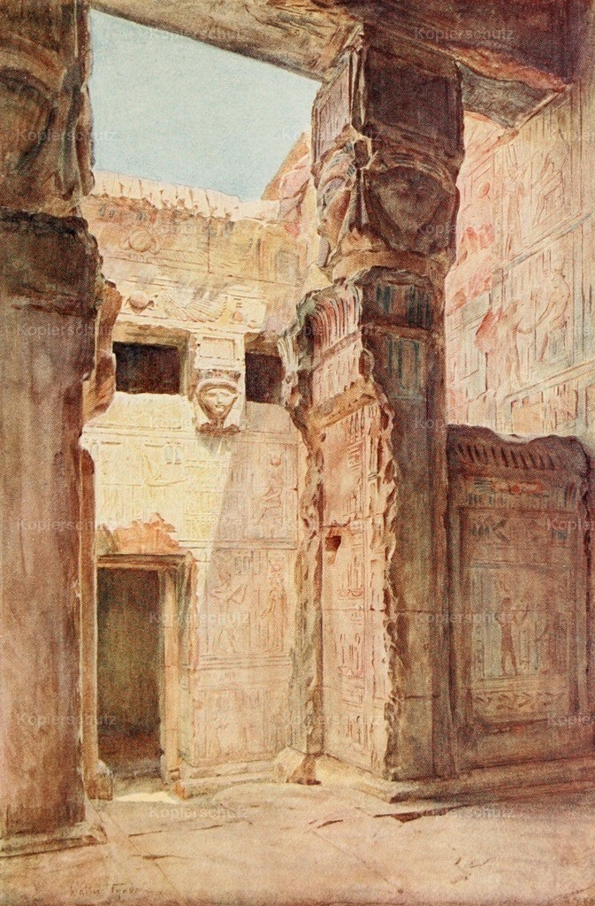 Tyndale_ W. (1855-1943) - Below the Cataracts 1907 - The court of the Kiosque at Dendera
