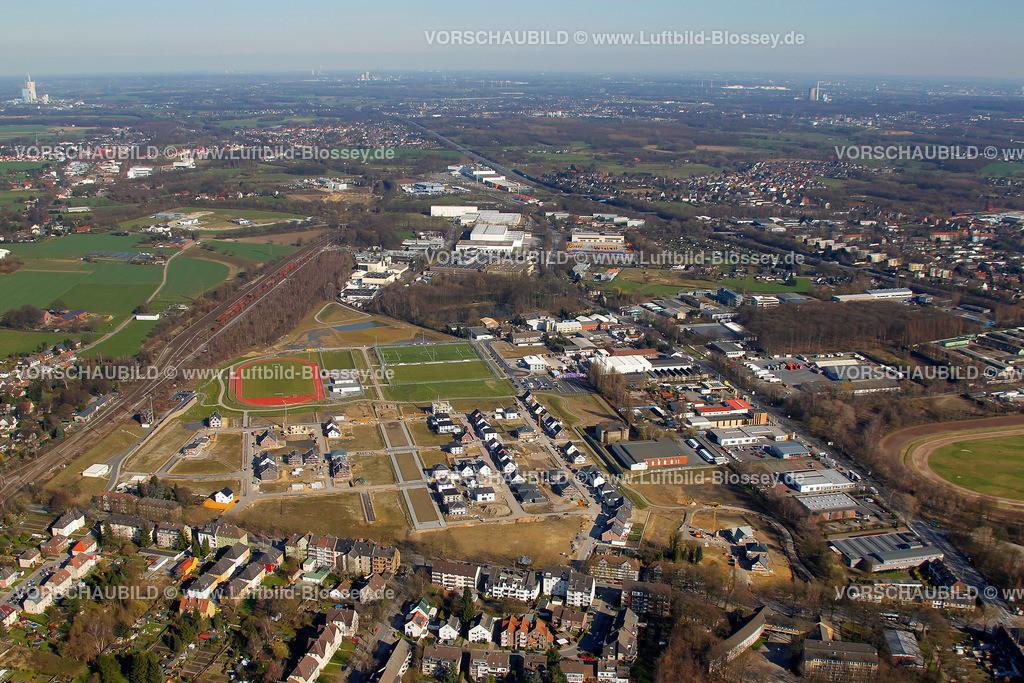 RE11033202 | Maybacher Heide, Baugebiet, Wohnsiedlung, Sportplaetze,  Recklinghausen, Ruhrgebiet, Nordrhein-Westfalen, Germany, Europa  Foto: Hans Blossey