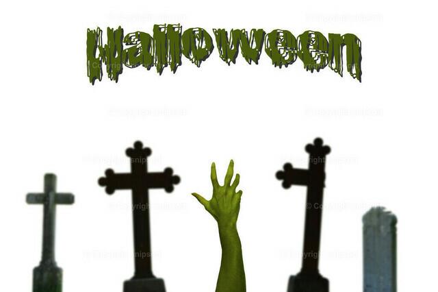 Halloween (Eine Zombiehand kommt aus dem Grab)
