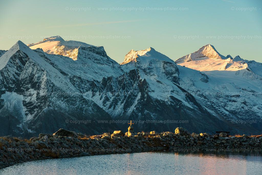 Sonnenaufgang Lämmerbichl mit Blick auf die Zillertaler Alpen