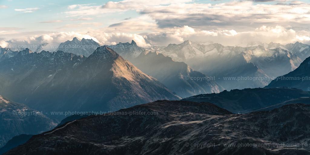 Blick auf die Zillertaler Alpen_