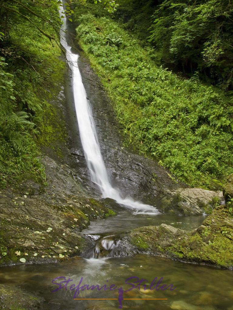 Wasserfall der Lydforge Gorge   In der Nähe des Dartmoor finden sich die Lydforge Gorge