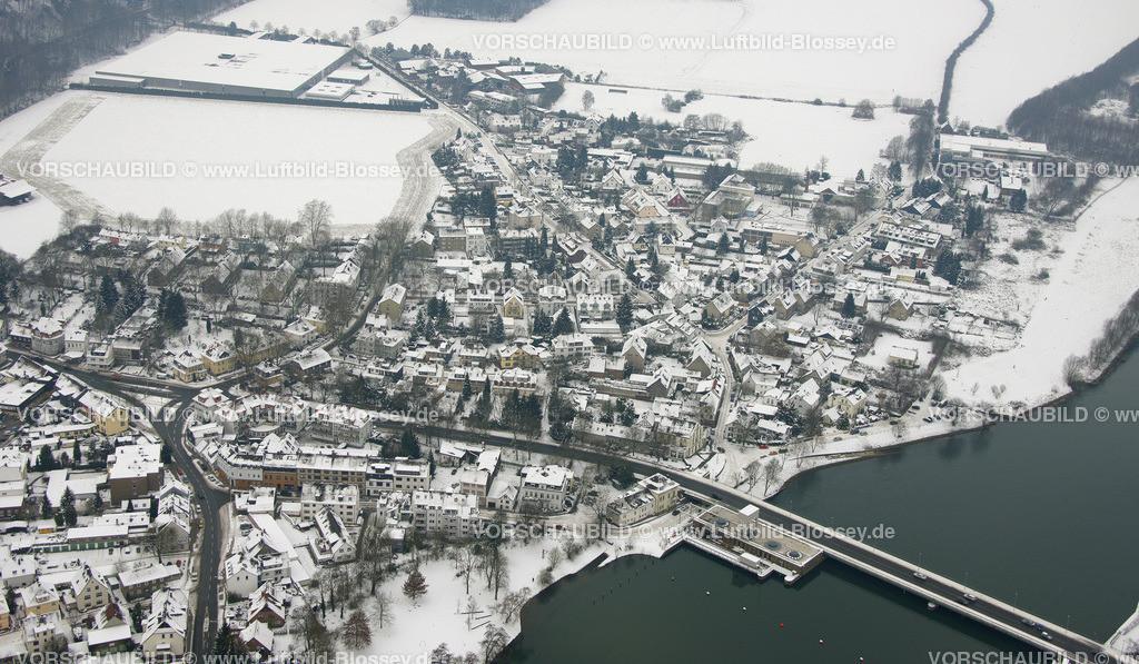 KT10011137 | Schnee,  Kettwig, Essen, Ruhrgebiet, Nordrhein-Westfalen, Deutschland, Europa, Foto: Luftbild Hans Blossey, Copyright: hans@blossey.eu, 06.01.2010, E 006° 56' 30.53