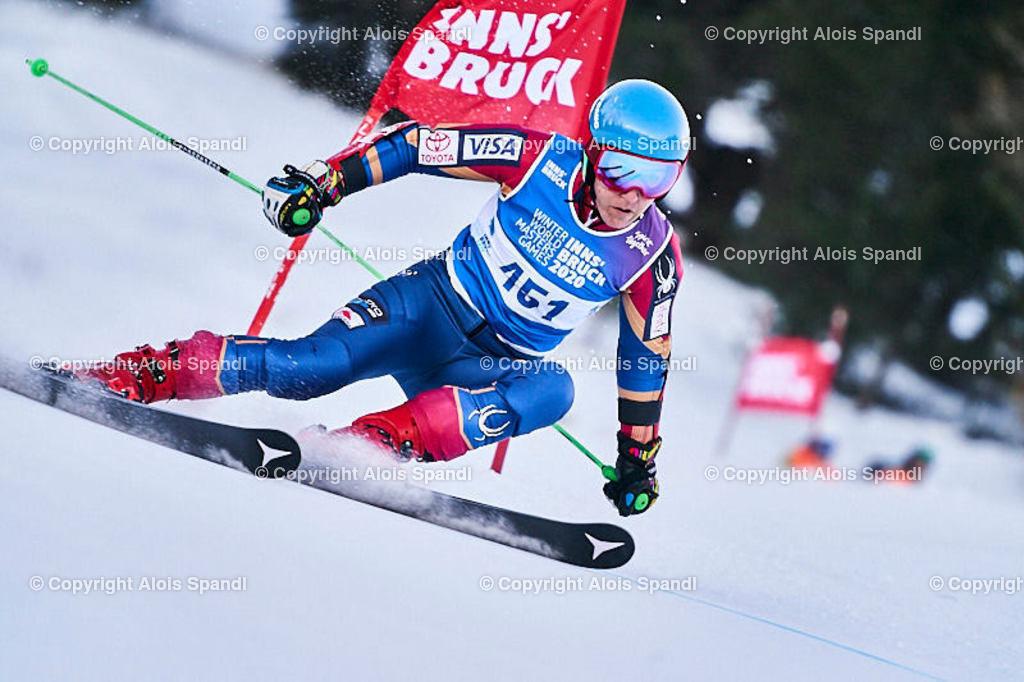 ALS5935_WWMG_GS-II_C | (C) FotoLois.com, Alois Spandl, WinterWorldMastersGames 2020 Innsbruck, Giant Slalom-II Gruppe C Damen, Patscherkofel Olympiaabfahrt, Mi 15. Jänner 2020.
