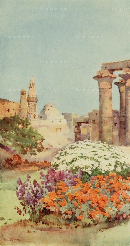Cane_ Ella du (1874-1943) - Banks of the Nile 1913 - Temple of Luxor
