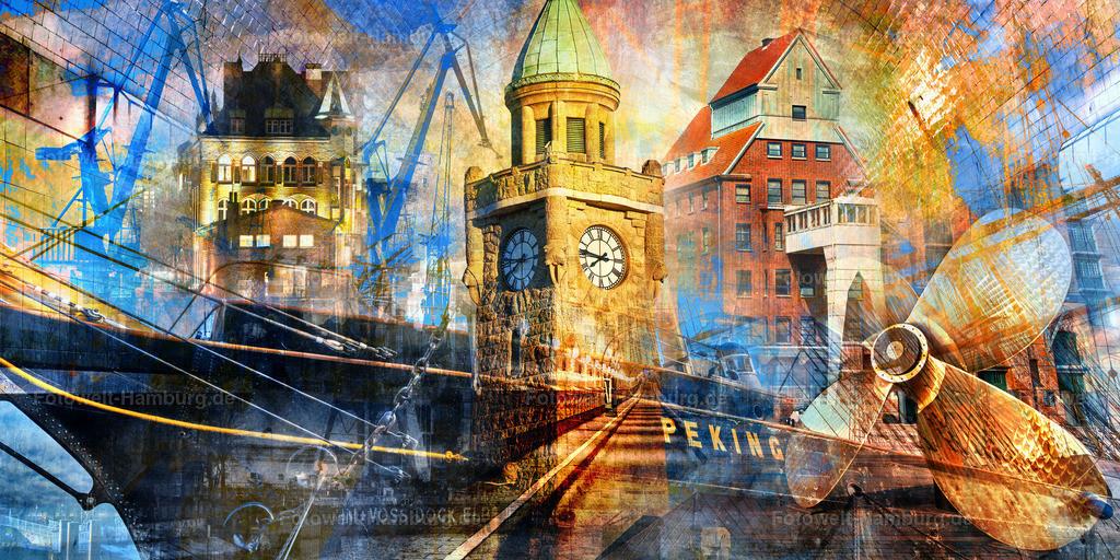 10201201 - Hamburg Collage 042 | Auf dieser Collage haben wir wieder das berühmte Segelschiff
