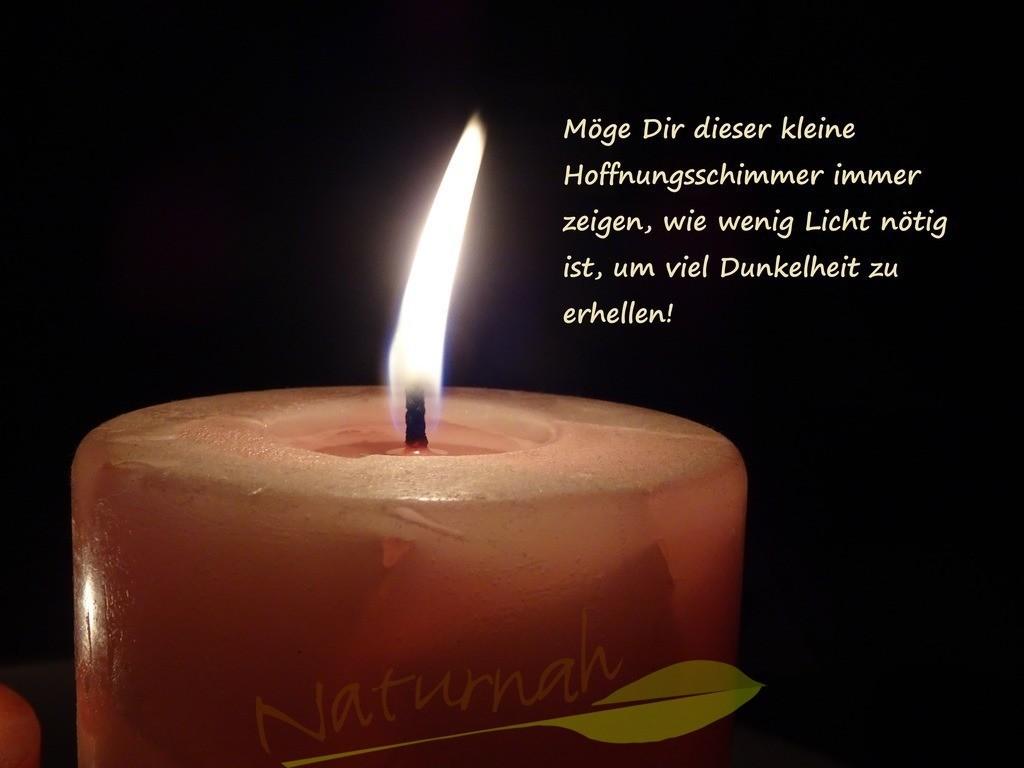 Die kleine Kerze und die Dunkelheit | Hoffnung und Mut für dunkle Zeiten oder Stunden.