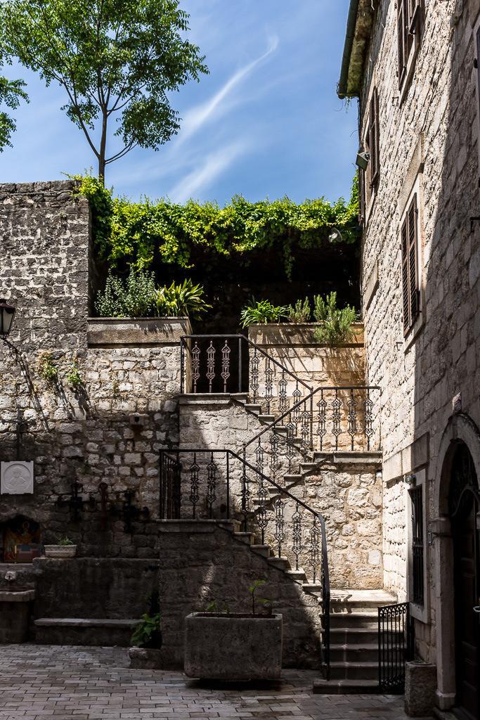 Treppenaufgang in Kotor