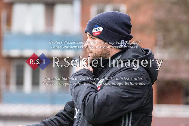 Fußball, Herren, Mercado Cup 2020, TSV Sasel (Oberliga) - FC Teutonia Ottensen 05 (Oberliga), Sportplatz Kreuzkirche, 02.02.2020 | Daniel Mark Zankl (Sasel Coach)